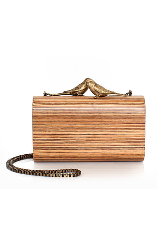Bronze Log Lovers Clutch Bag
