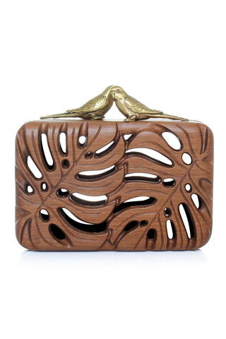 The Adored Clutch in Wood