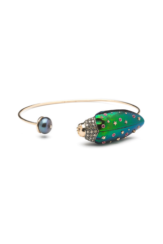 Scarab & Pearl Bangle