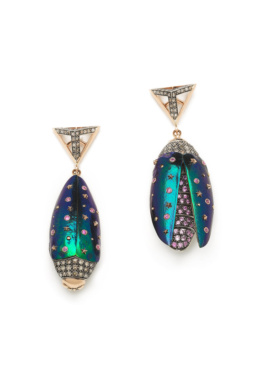 Scarab Upside Down Earrings