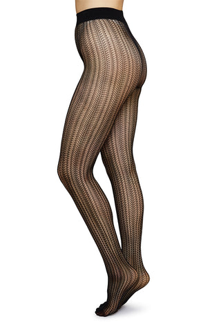 Selma Net Tights in Black