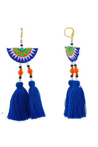 The Camilla Earrings in Blue