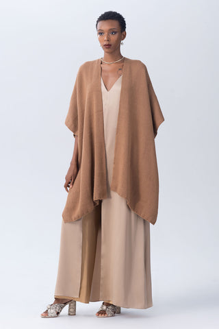 Short Duster Baby Alpaca in Camel