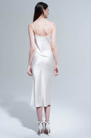 Midi Slip Dress in Ivory thumbnail