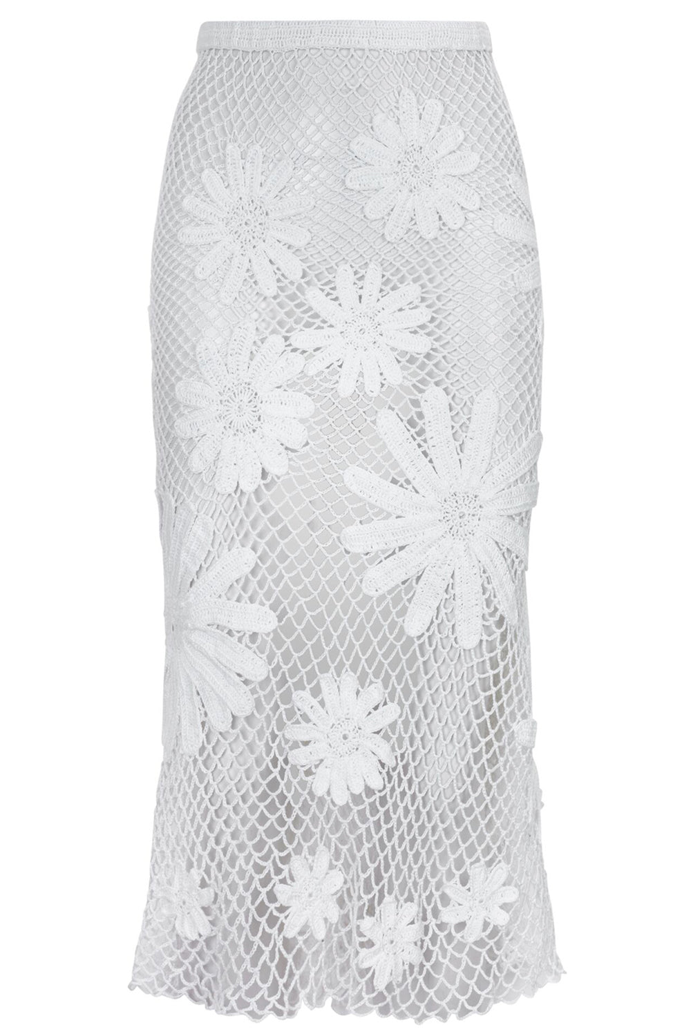 Hannah Mesh Skirt With Daisies