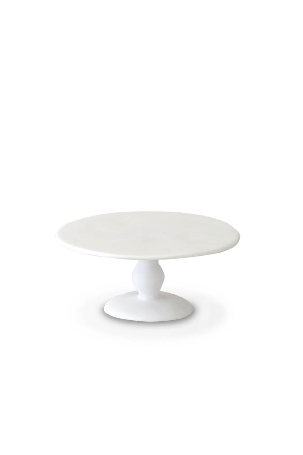 Large Pedestal Cake Stand in White