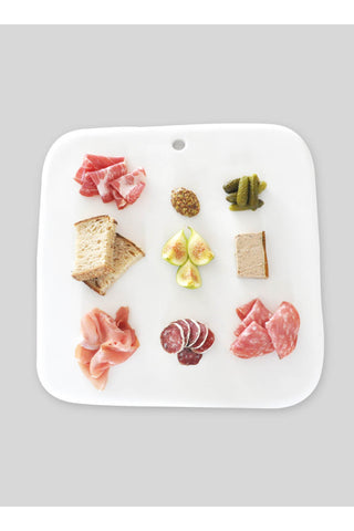 Square Charcuterie Board - White