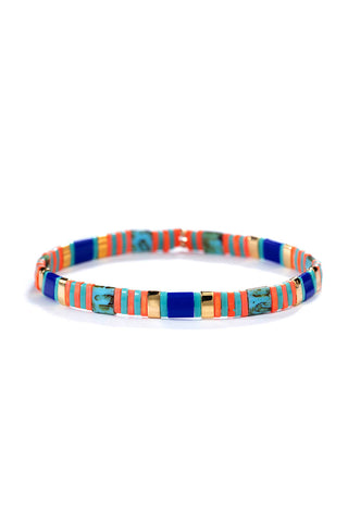 Tilu Bracelet Orange Stripes