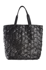 Pirarucu Cabas Tote Bag in Black thumbnail