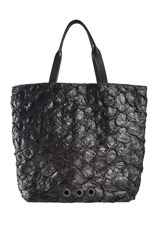 Pirarucu Cabas Tote Bag in Black