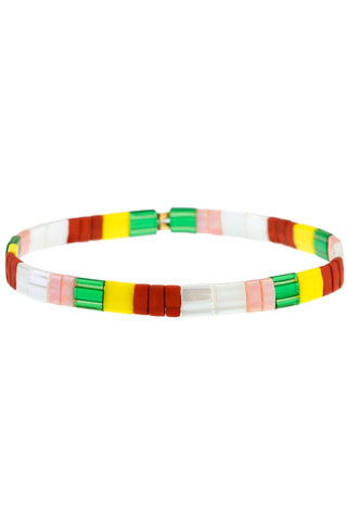 Tilu Bracelet in Red & White