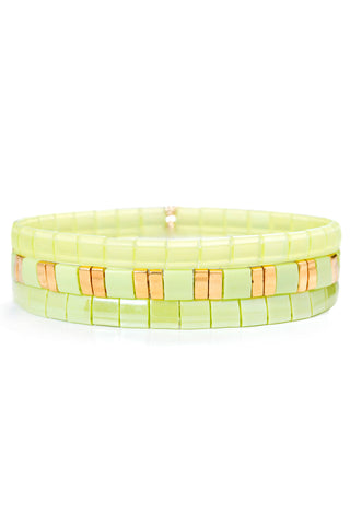 Tilu Lime Bracelet Set