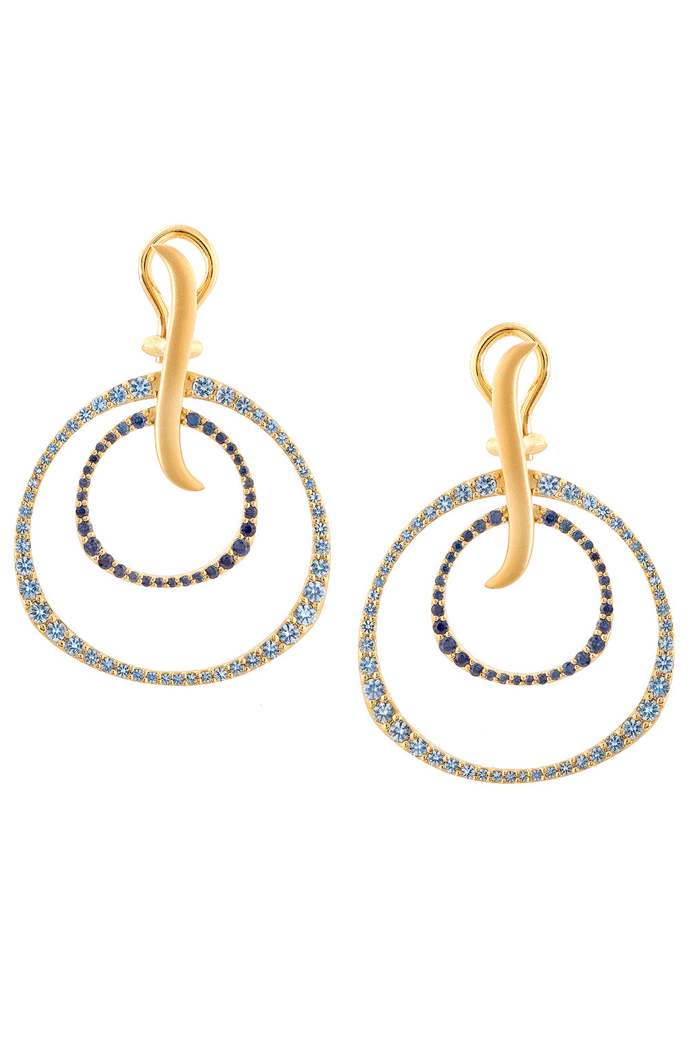 Twilight Petite Ombre Sapphire Double Hoop Earrings