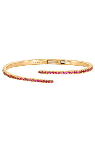 Twilight Ruby Hinge Bangle