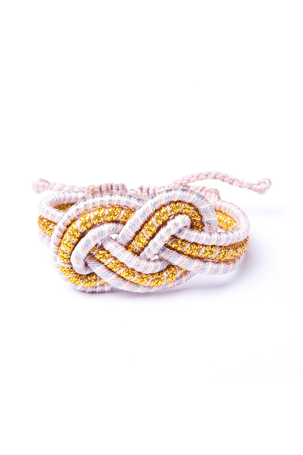 Twisted Knot Stripe Bracelet in Gold