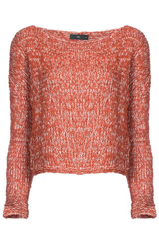 Twist Sweater Hand Knit in Burnt Orange