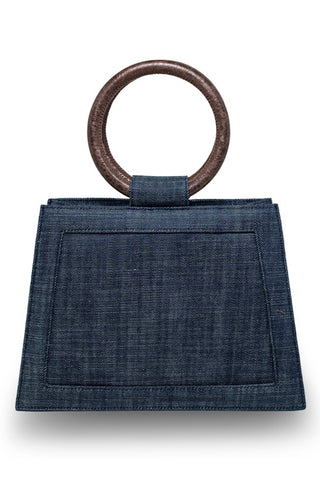 Echo Plain Denim Bag In Dark Blue