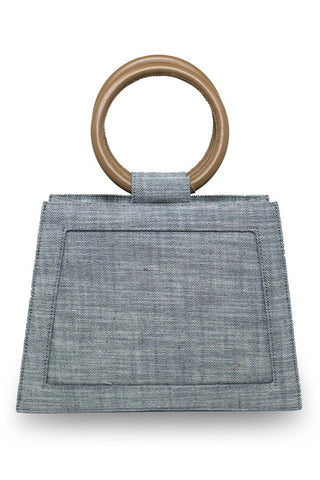 Echo Plain Denim Bag In Blue