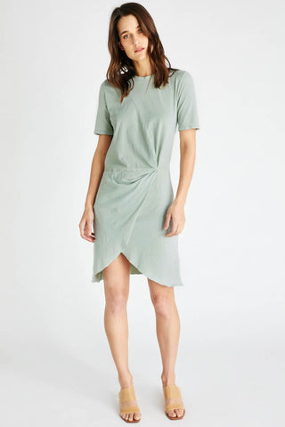 Veronica Twist Tee Dress in Agave