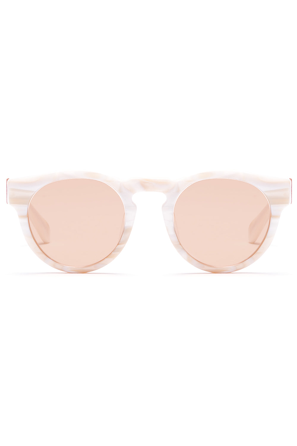 Voyager 35 Sunglasses in Polished White Marble Acetate