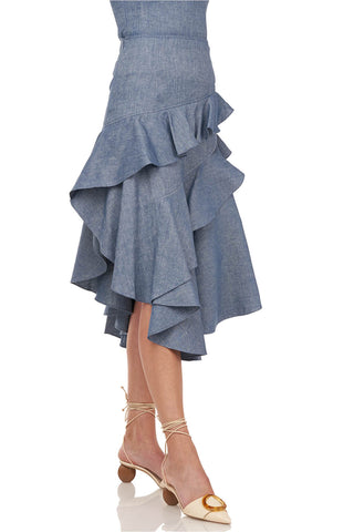 Winslow Skirt in Chambray