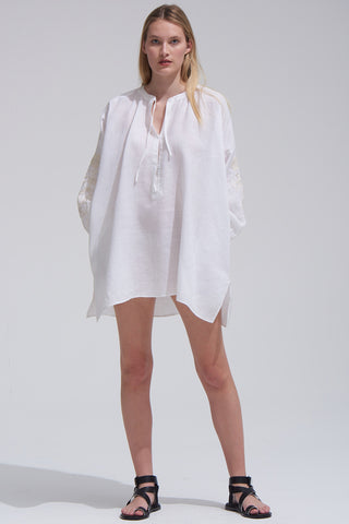 Wren Shirtdress in White