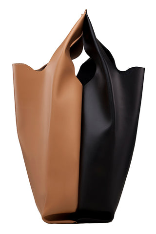 Xala Mix Bag in Black & Camel