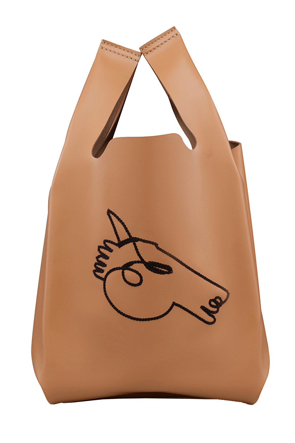 Xala Stitch Bag in Camel