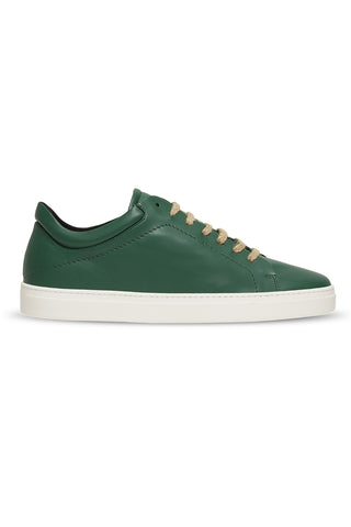 Neven Low Sneakers in Green with White Sole