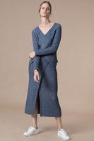 Lee Skirt in Slate Blue thumbnail