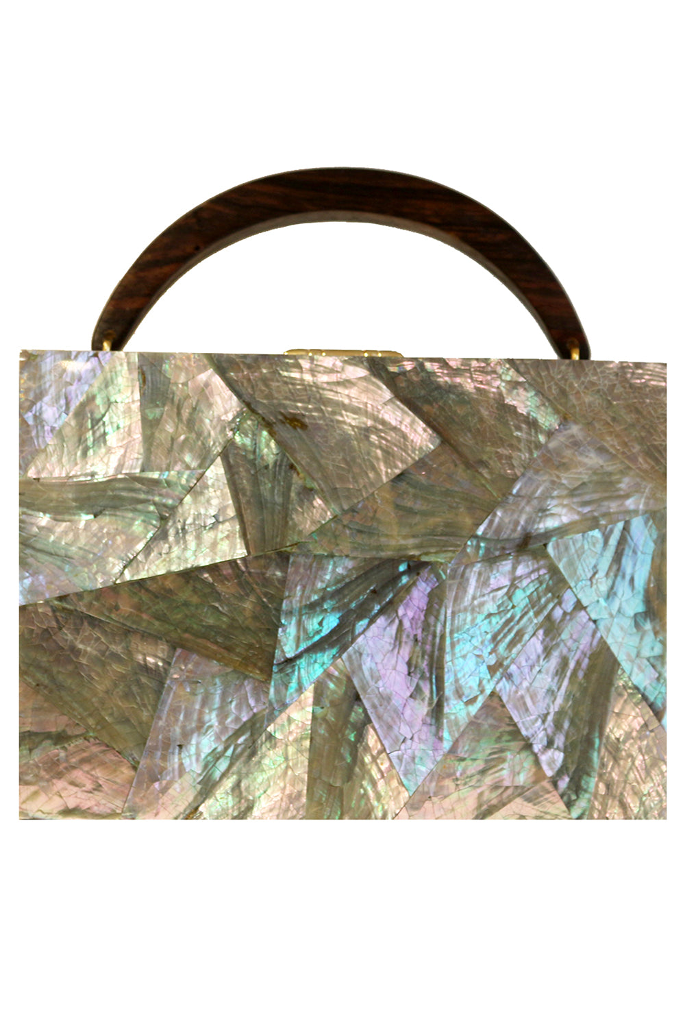 Lunch Box Clutch in Abalone Shell