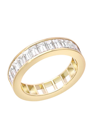 White Diamond 50 50 Ring Band