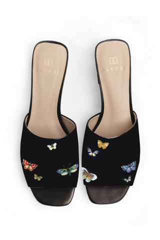 Butterfly Block Heel