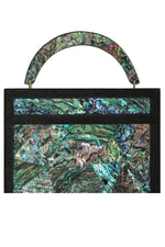Arista Clutch in Paua Shell & Shagreen Trim thumbnail