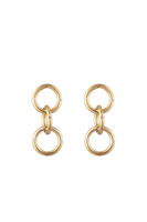 Small Triple Gold & Diamond Hoop Earrings thumbnail