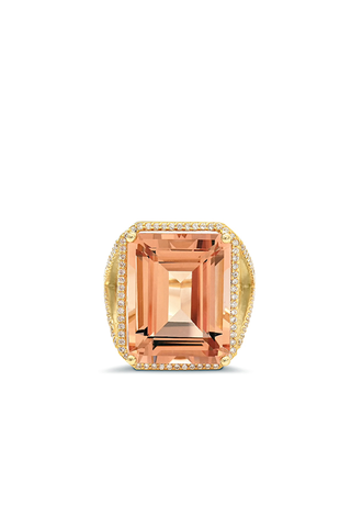 Morganite Cocktail Ring
