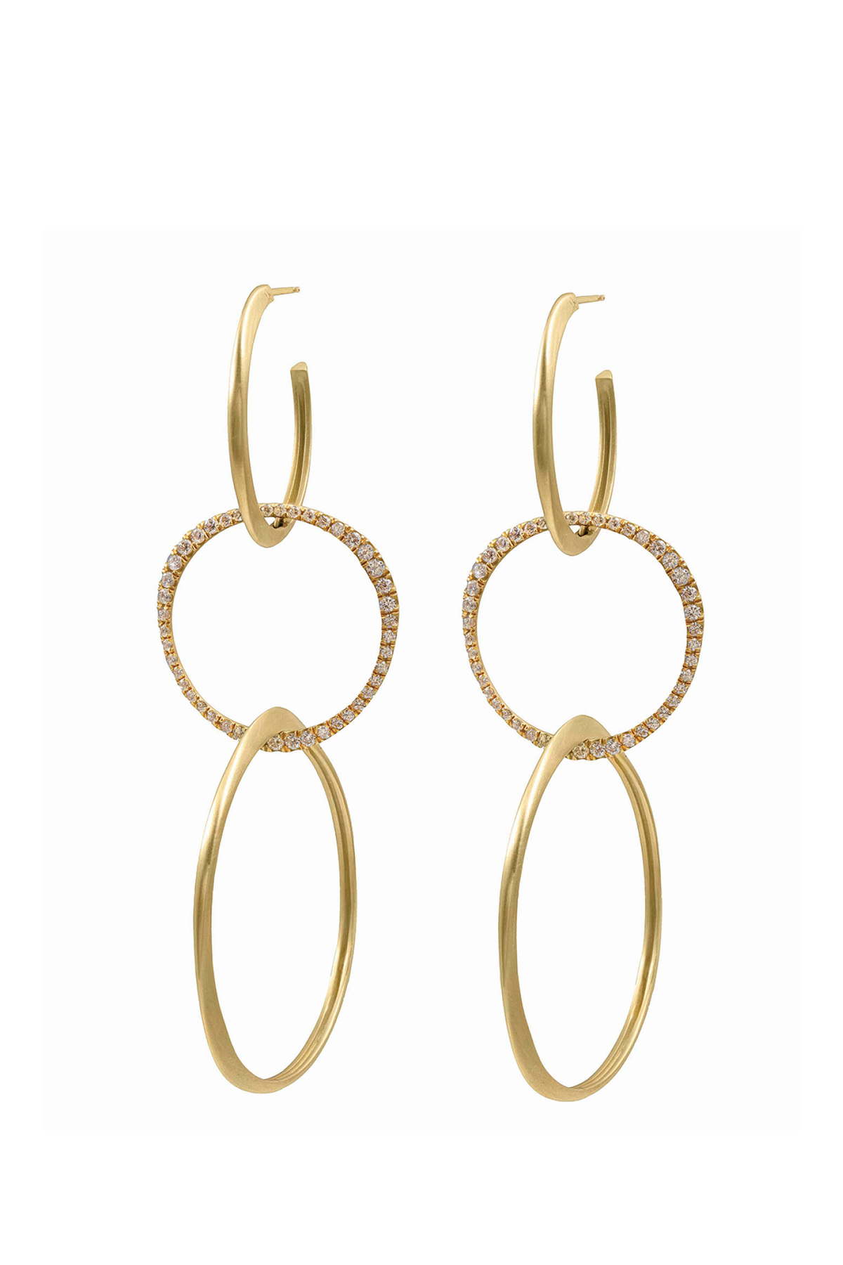 Triple Hoop Drop Earrings