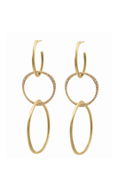 Triple Hoop Drop Earrings thumbnail