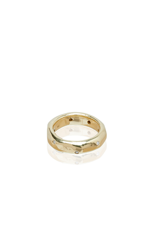 Sculpted Gold & Diamonds Ring