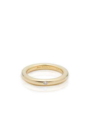 Round Gold & Diamond Band