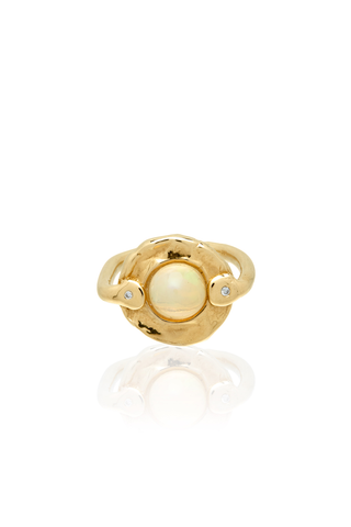 Opal Gold & Diamonds Ring