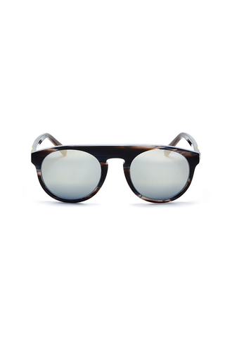 Atlas 1 Frame with Super Silver Lenses & Neon Lemon Howlite Inlay