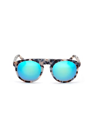 Atlas 4 Frame with Cyan Lenses & Polished Onyx Inlay