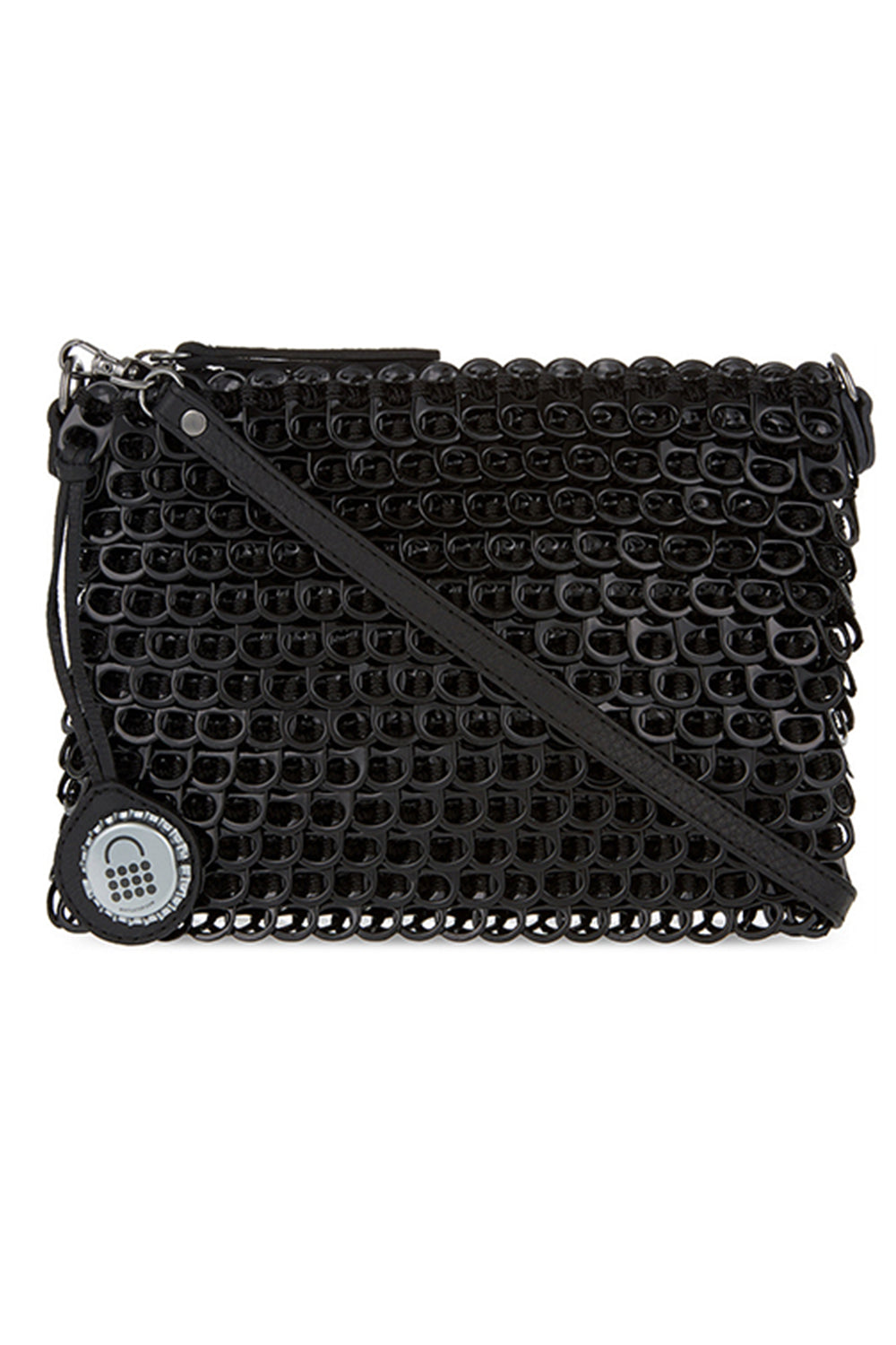 Luciana Enamel Purse in Black