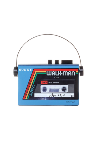 Walkman Clutch in Blue
