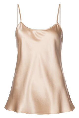 Liquid Silk Cami Tank in Blush