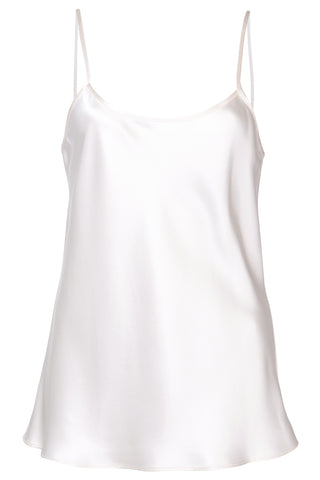 Liquid Silk Cami Tank in Ivory