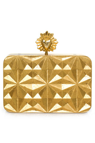 Celeste Solitaire Clutch in Gold