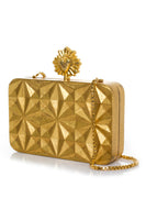 Celeste Solitaire Clutch in Gold thumbnail