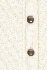 Fort Point Ribbed Cardigan in Natural thumbnail